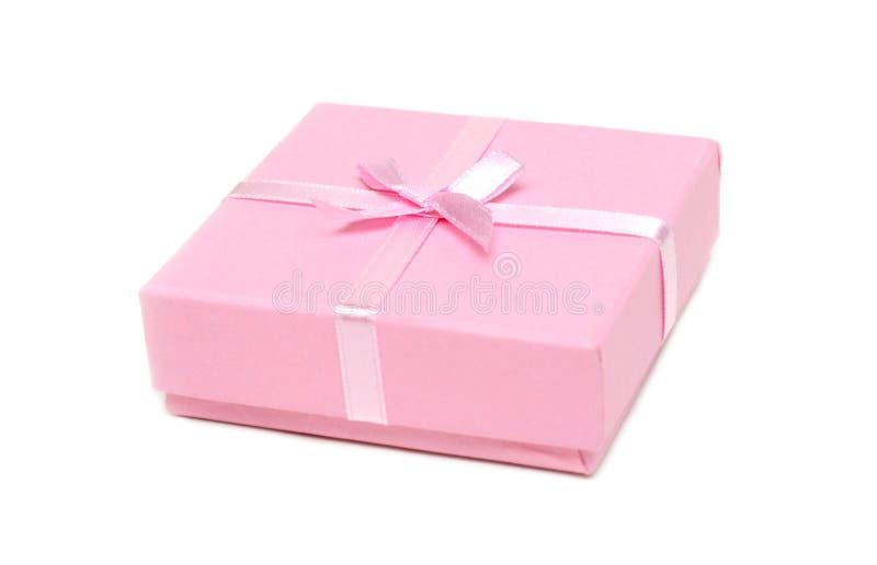 подарок коробки смычка поднял стоковое изображение