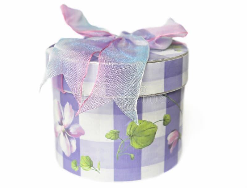 подарок коробки смычка стоковое изображение