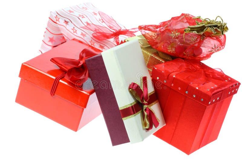 подарок коробок мешков стоковые фото
