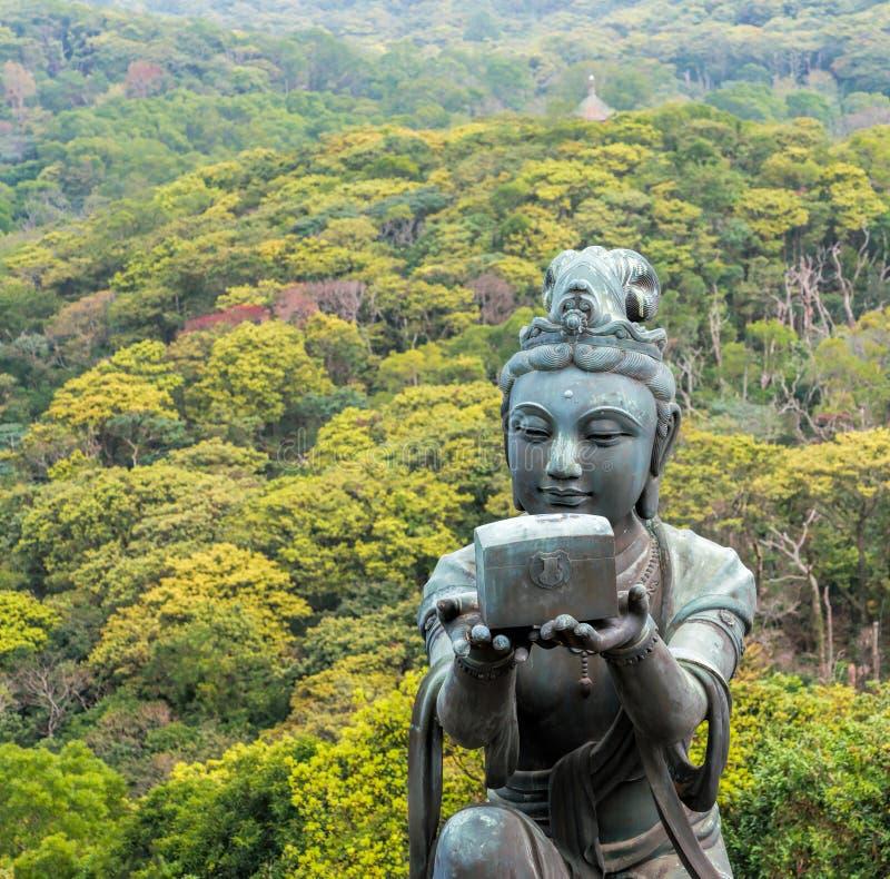 Подарок к большому Будде в Lantau, Гонконге стоковые изображения rf