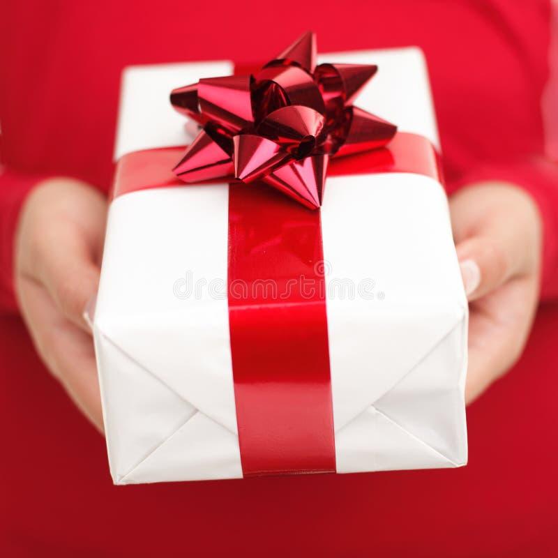 подарок присутствующий стоковые изображения rf