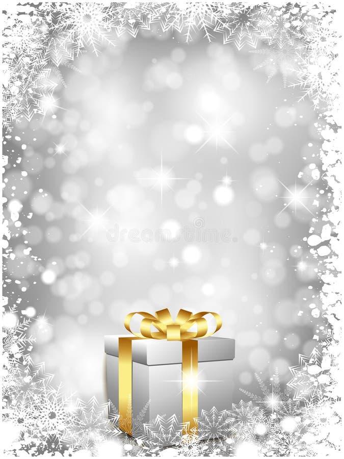 подарок рождества предпосылки иллюстрация вектора