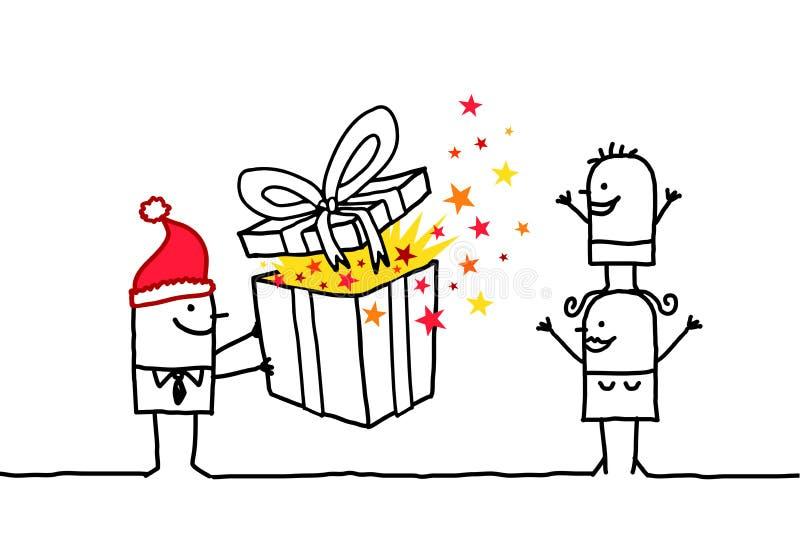 подарок рождества иллюстрация вектора