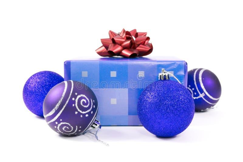 подарок рождества baubles стоковое изображение rf