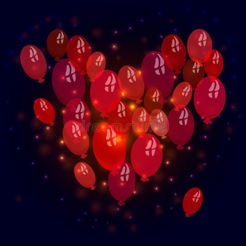 Подарок сердца иллюстрация вектора