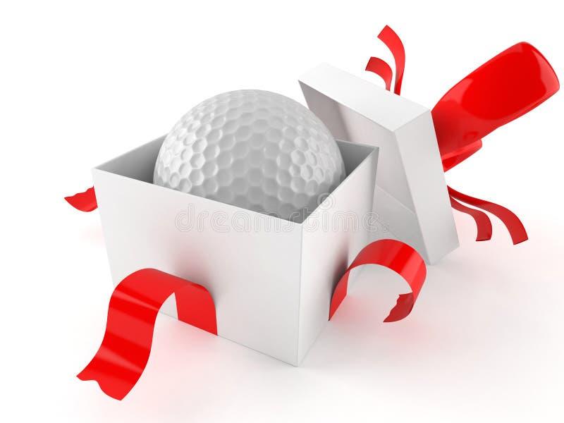Подарок с шаром для игры в гольф бесплатная иллюстрация