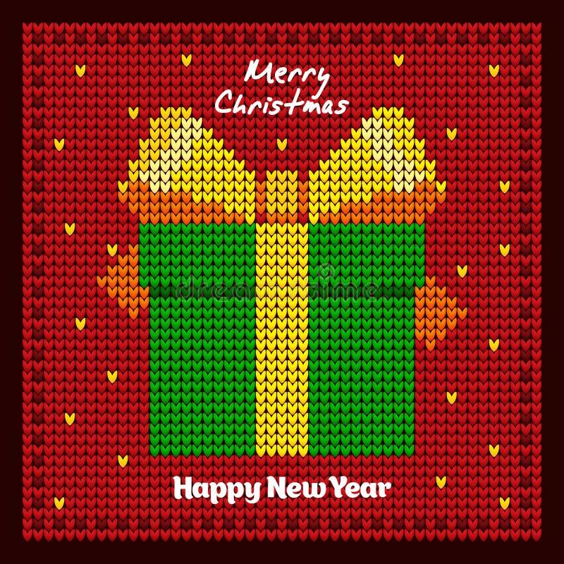 Подарок ` s Новый Год упаковывать Предпосылка `s Новый Год бесплатная иллюстрация