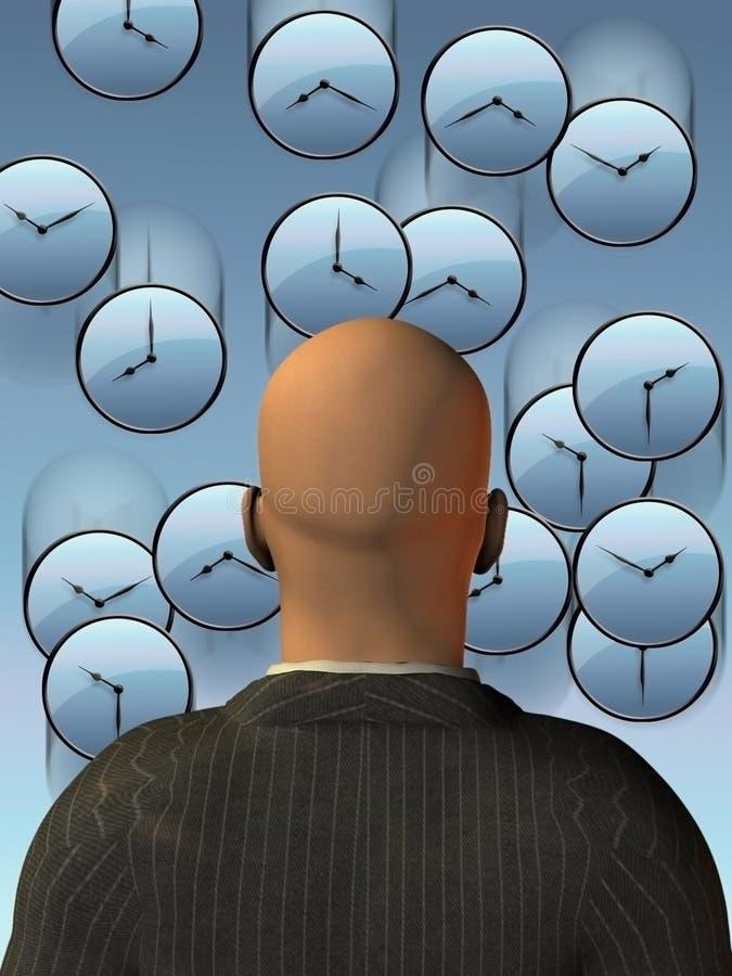 Подача времени иллюстрация штока