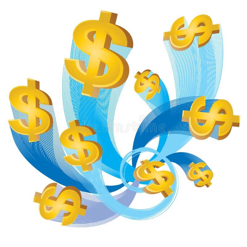 подача доллара наличных дег иллюстрация штока