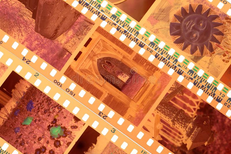 Подвергли действию прокладки отрицательного фильма цвета стоковые изображения rf