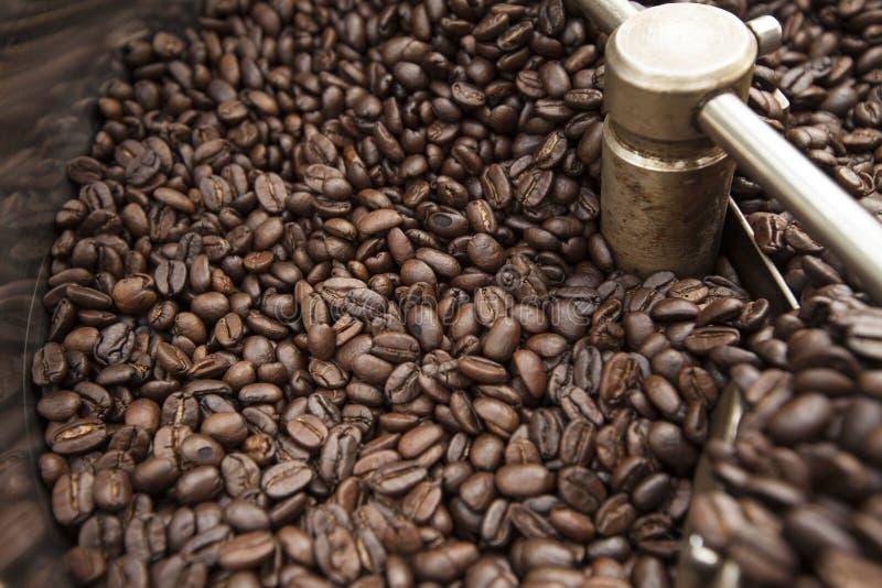 Подвергните механической обработке для кофейных зерен жарить в духовке в больших количествах стоковые изображения rf