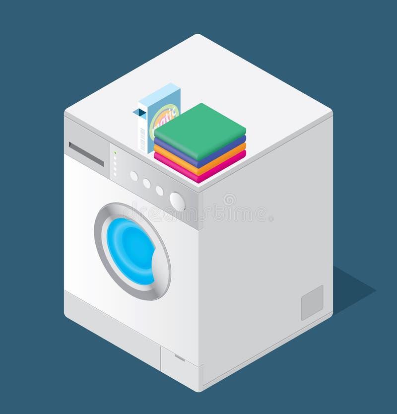 подвергните мыть механической обработке иллюстрация вектора