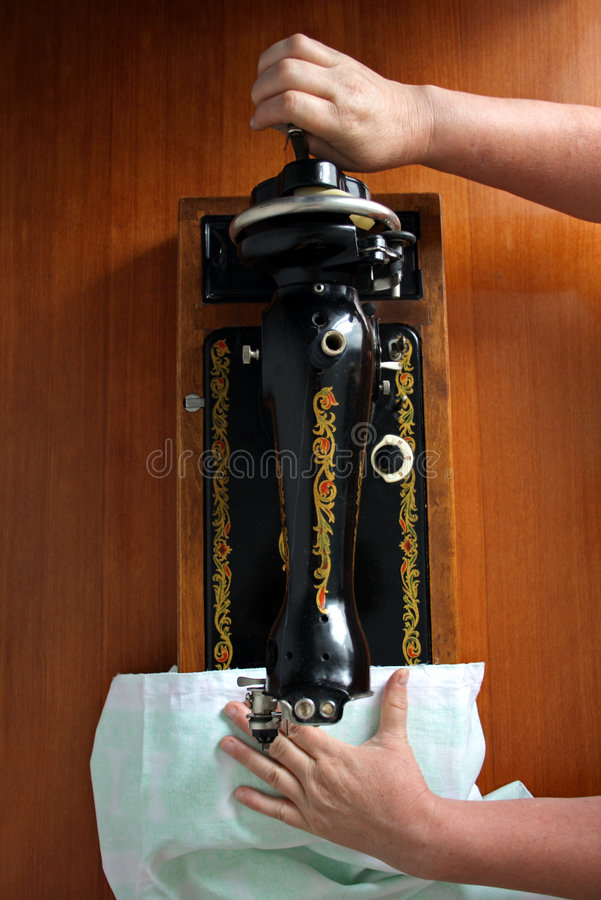 подвергните шить механической обработке стоковое изображение