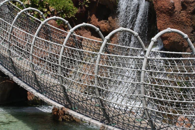подвес веревочки моста стоковое изображение