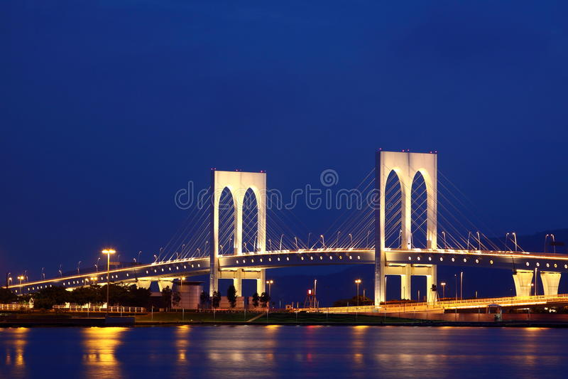 подвес моста стоковая фотография rf