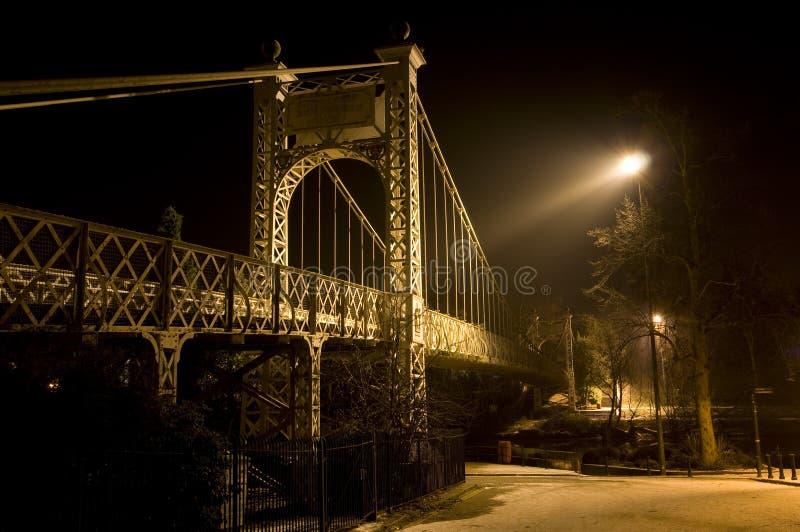 подвес chester моста стоковые изображения rf