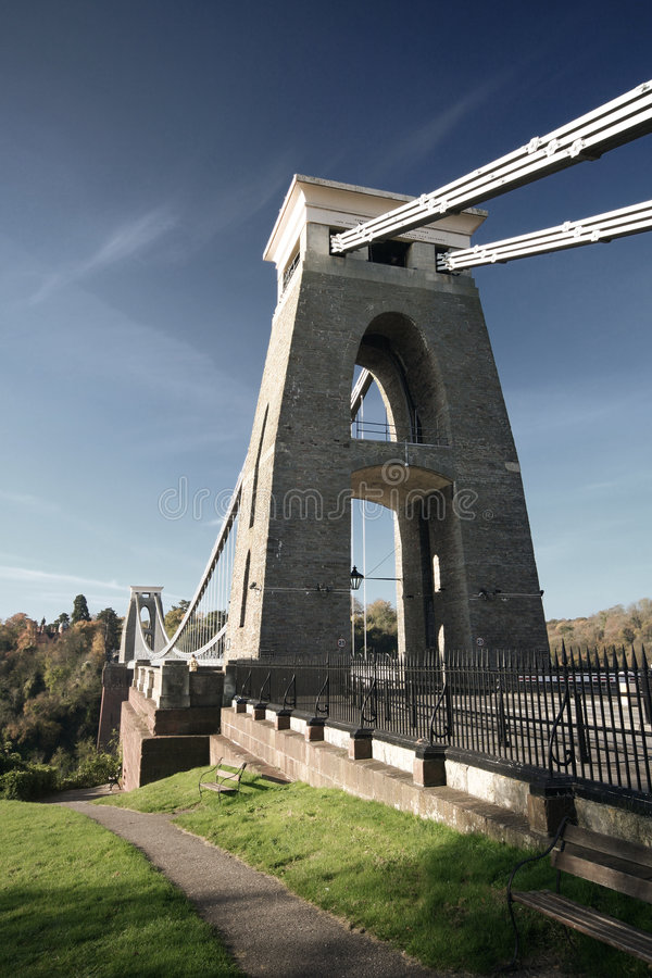 подвес clifton моста западный стоковое фото rf