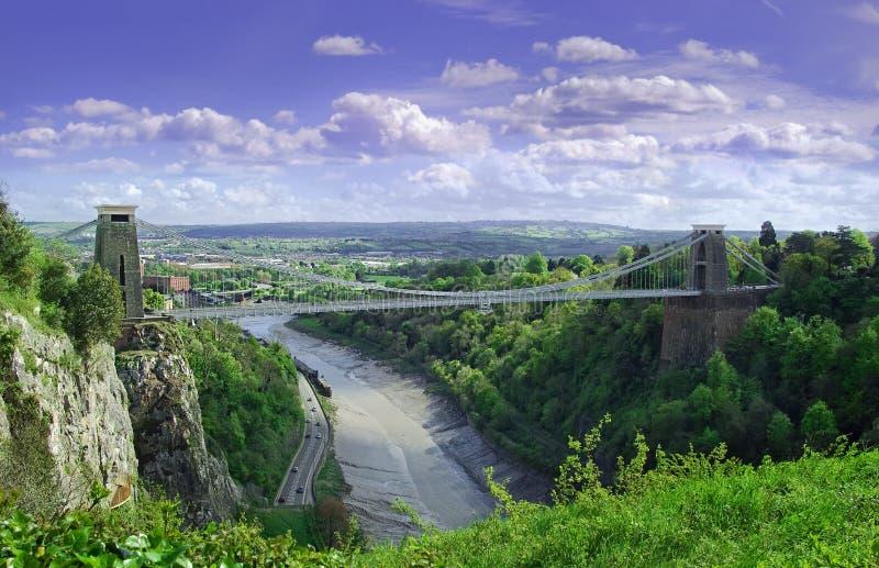 подвес clifton моста стоковая фотография rf