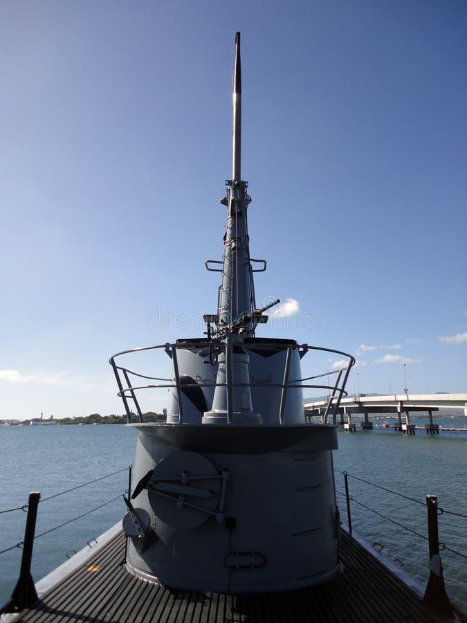 подводная лодка пушки палубы bowfin стоковые фотографии rf