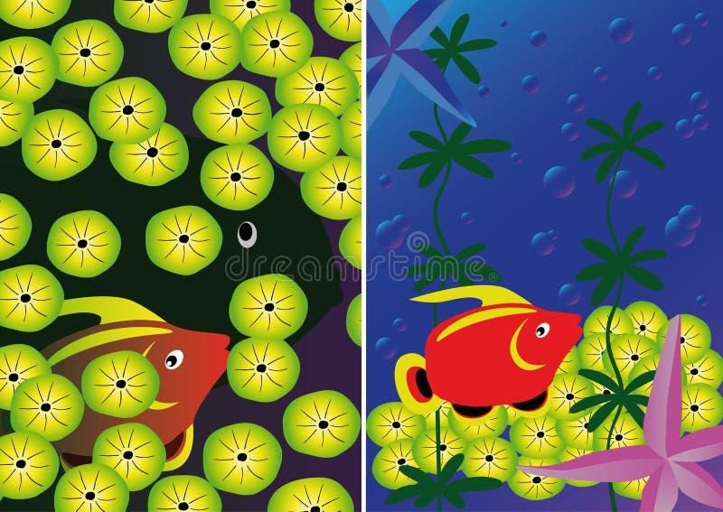 Подводная предпосылка 2 с тропическим морем бесплатная иллюстрация