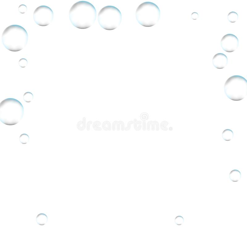 Подводные fizzing воздушные пузыри на белой предпосылке Газированное sparkl иллюстрация вектора
