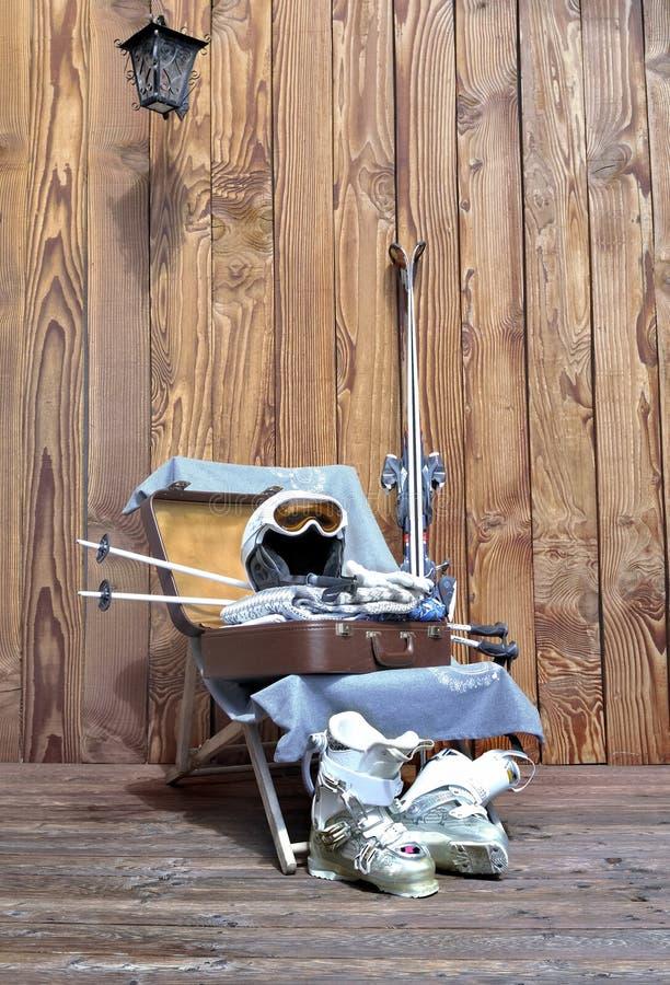 Подготавливайте для спорт зимы стоковая фотография rf