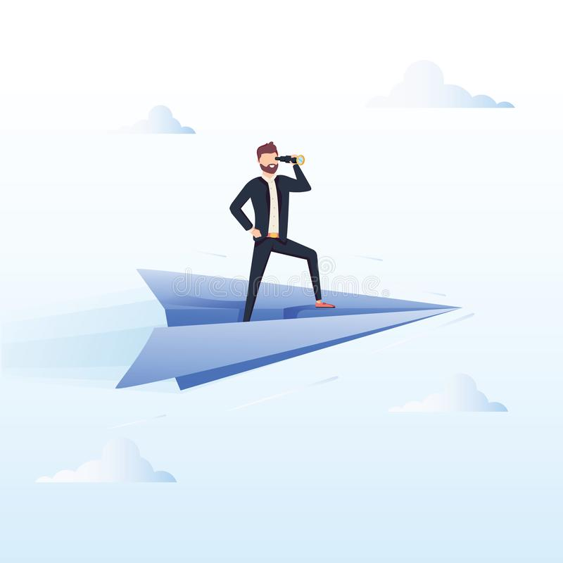 Подготавливайте для того чтобы лететь Иллюстрация концепции вектора дела иллюстрация вектора