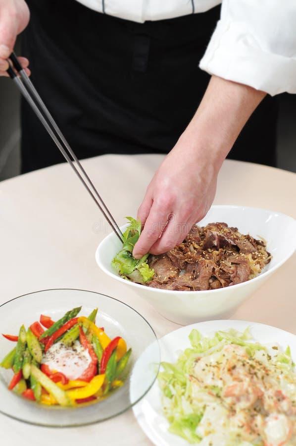 подготовка еды стоковое изображение rf