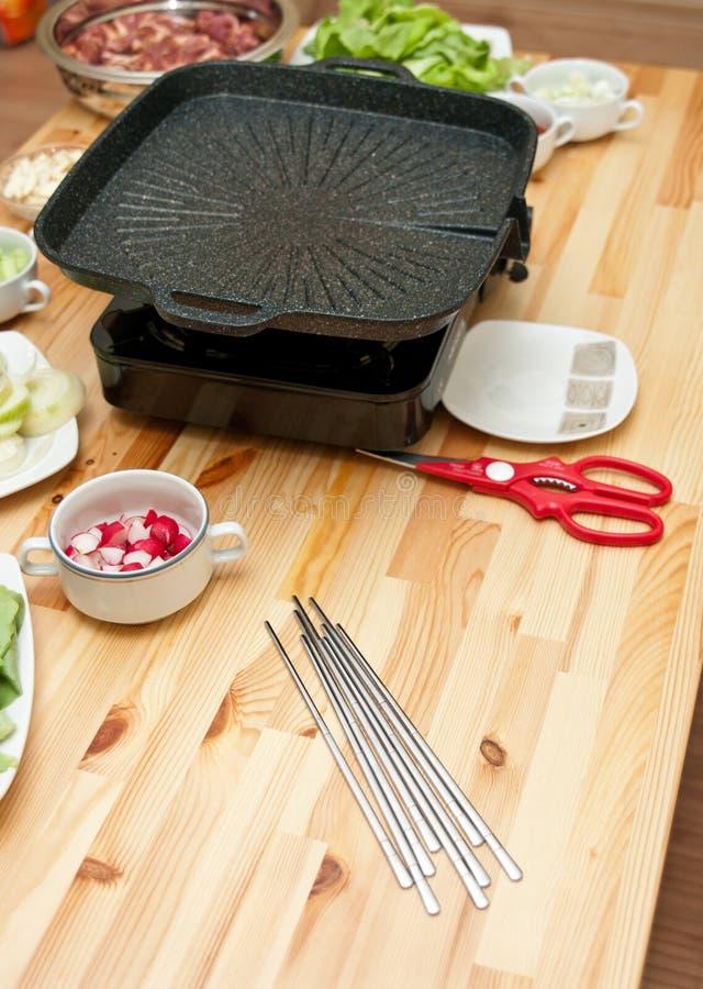 подготовка корейца еды стоковое фото rf