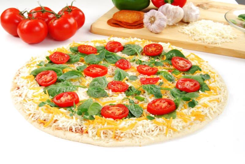 подготовка пиццы стоковая фотография