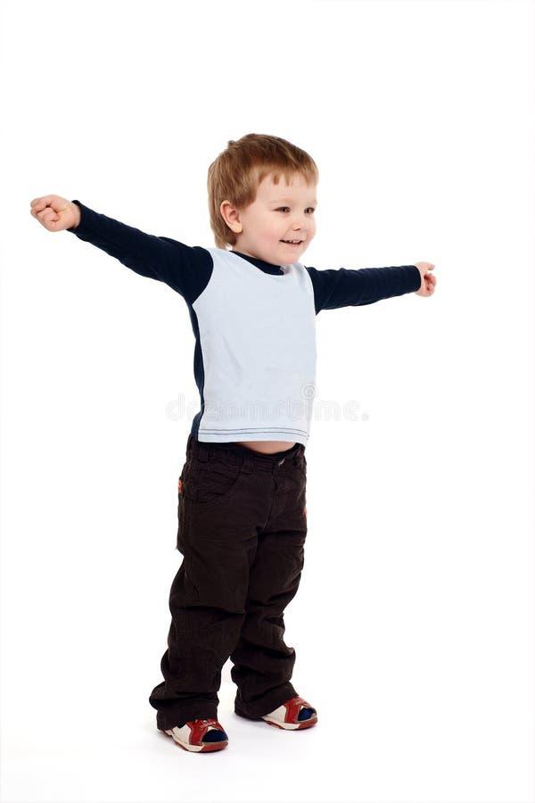 подготовляет поднятого мальчика стоковая фотография
