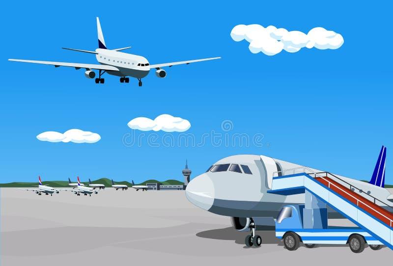 подготовлять авиалайнера бесплатная иллюстрация