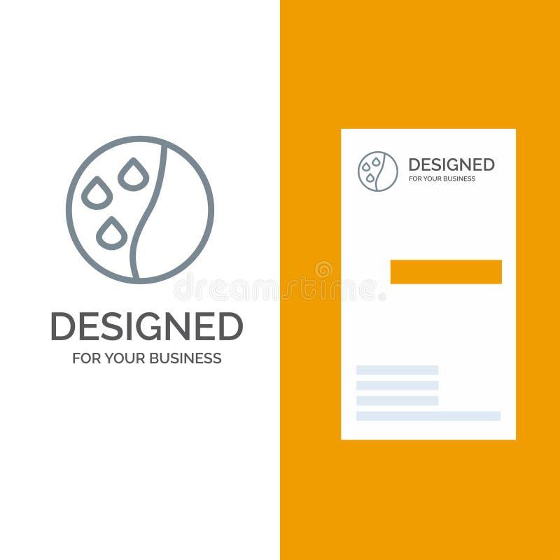 Подготовлять волос, терапия волос, дизайн логотипа обработки волос серые и шаблон визитной карточки бесплатная иллюстрация