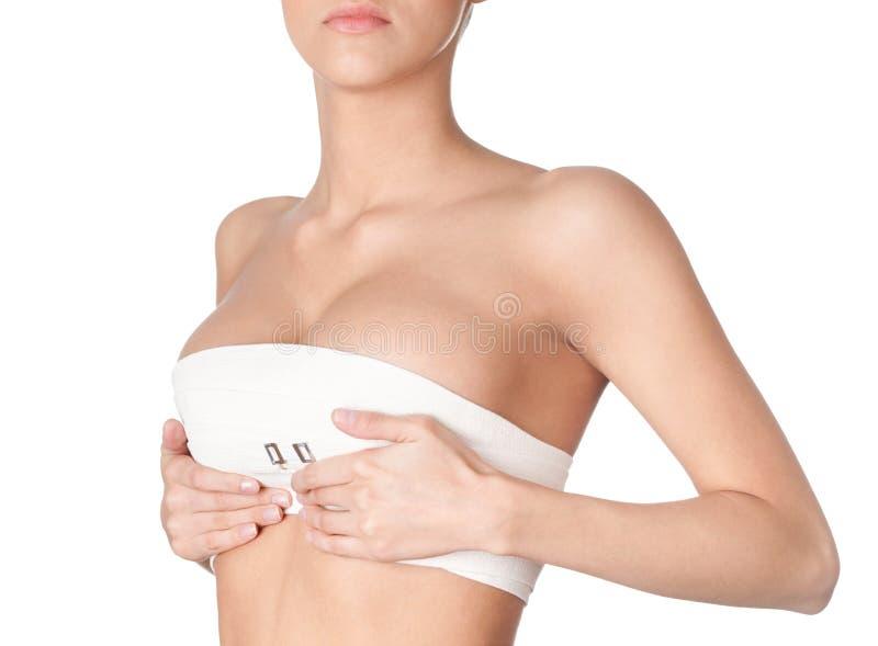 Подготовлять к коррекции груди стоковая фотография rf