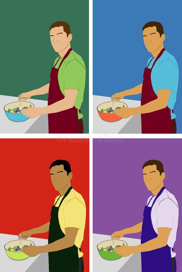 подготовлять человека еды бесплатная иллюстрация