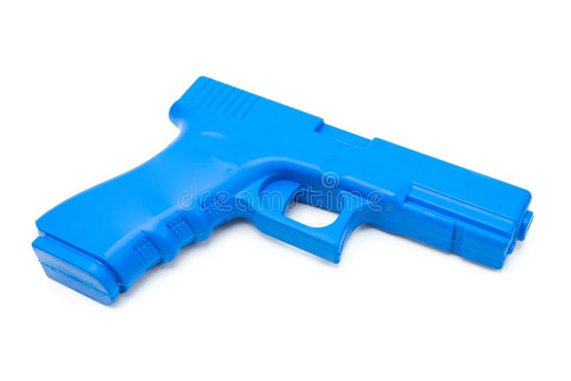 Поддельные оружи сделали из резины для тренировки полиции, солдат и формы и веса персонала службы безопасности как реальное оружи стоковые фотографии rf