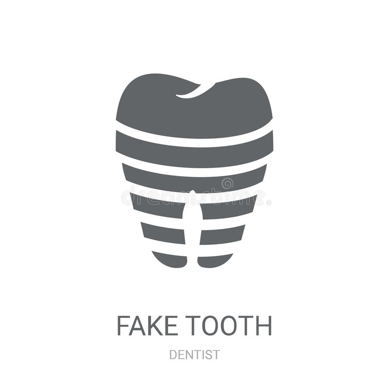 Поддельный значок зуба  иллюстрация штока