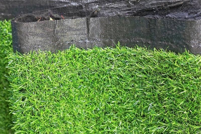 Поддельный ковер травы стоковое изображение
