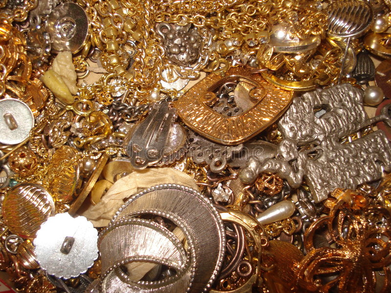 поддельный jewellery золота стоковое изображение