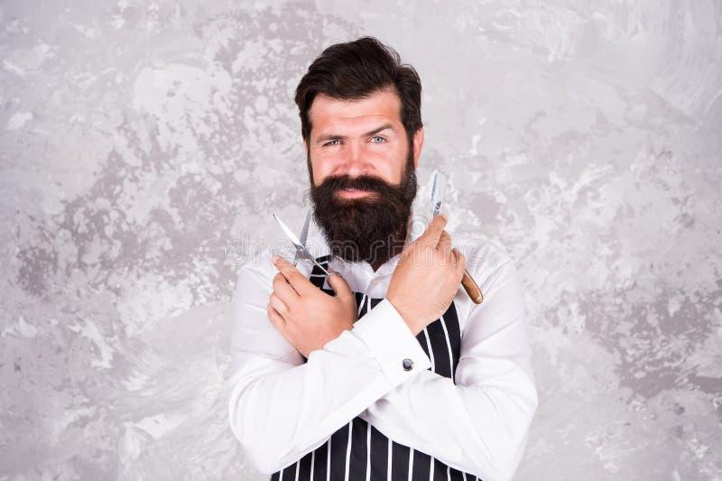 Поддерживайте стильную форму Инструменты парикмахера Принимать хорошие волосы на лице заботы Бородатый брить хипстера Винтажный п стоковая фотография