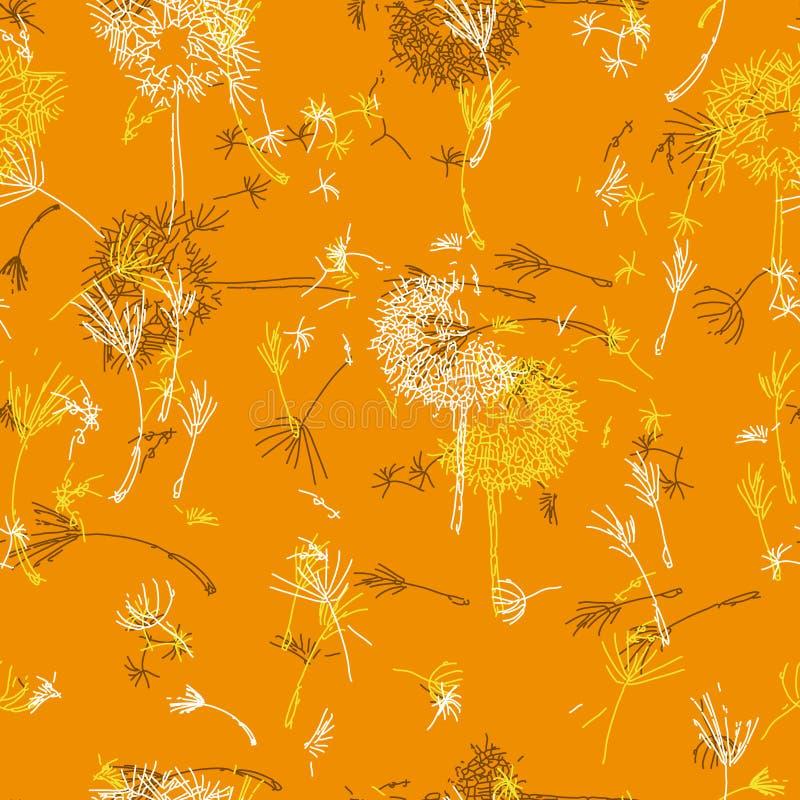 Поддерживать оранжевые одуванчики бесплатная иллюстрация
