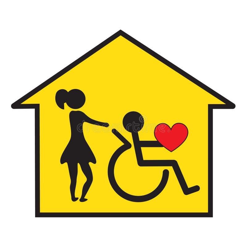 поддержка дома здоровья внимательности иллюстрация штока