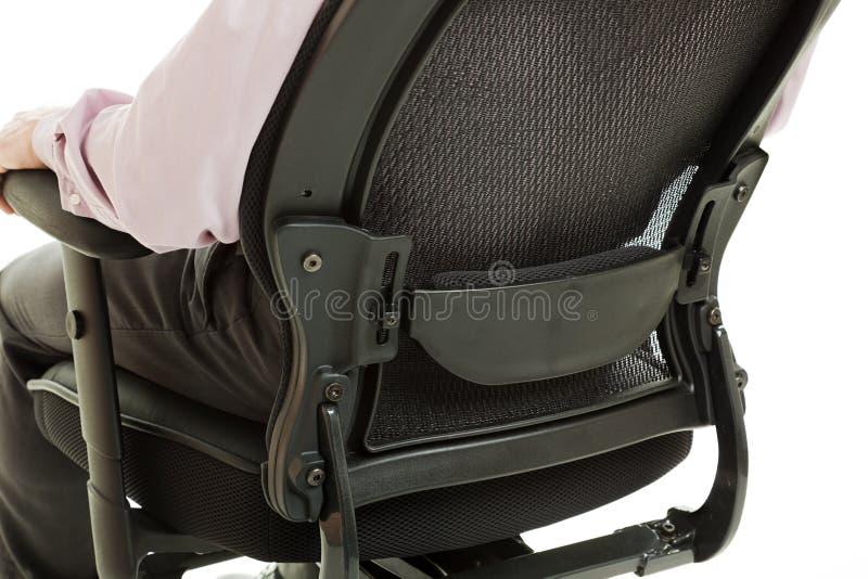 поддержка пиломатериала стула эргономическая стоковое фото rf