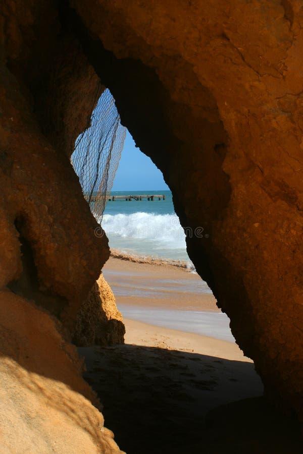 подземелье пляжа стоковые фотографии rf