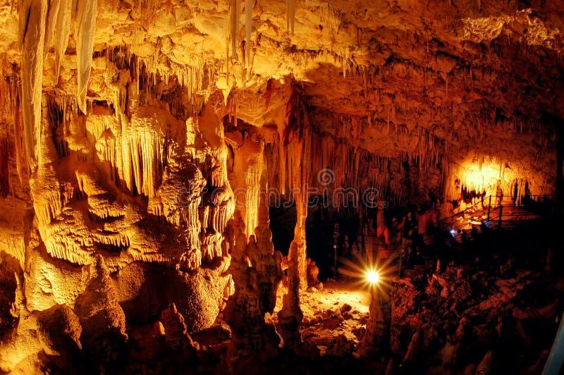 Подземелье Soreq в Израиле стоковые фотографии rf