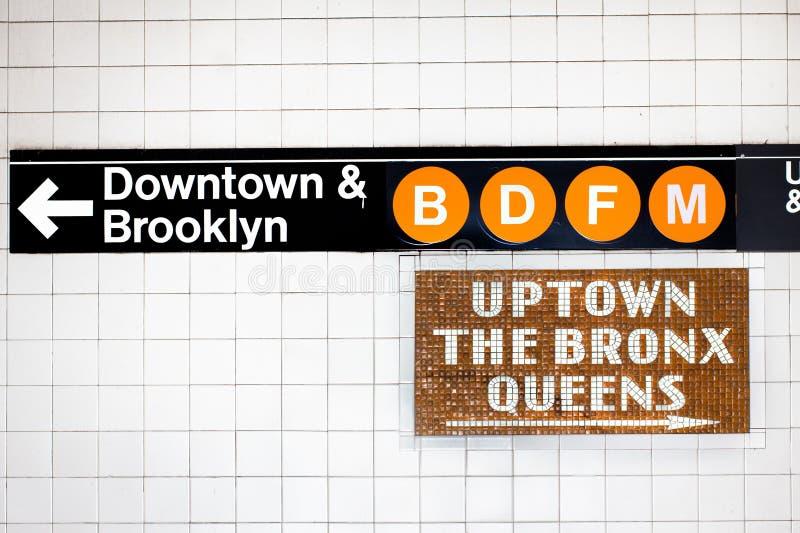 подземка знака nyc стоковые изображения rf