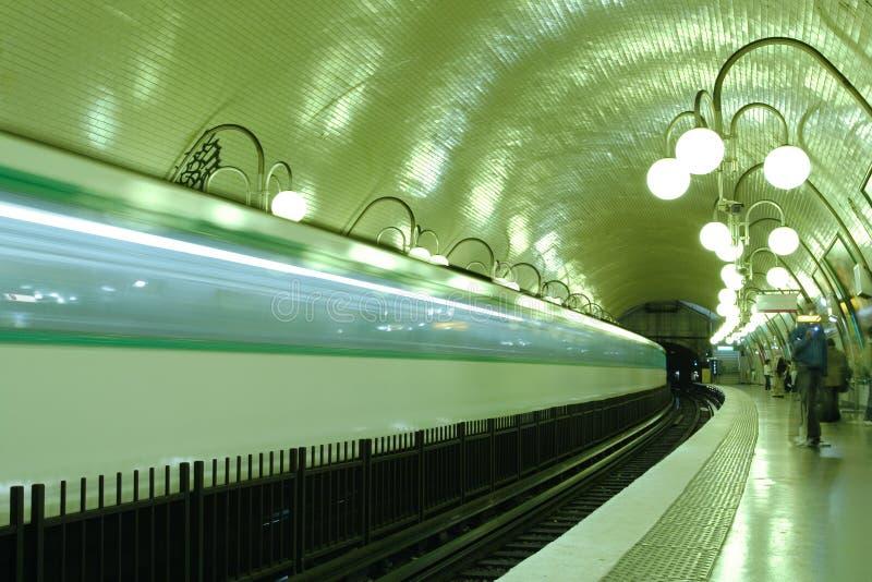 подземка станции paris стоковое фото