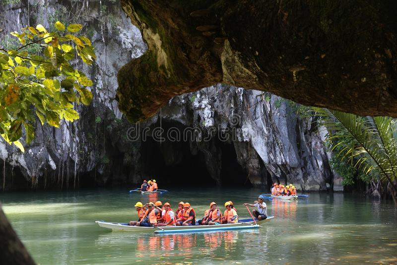Подземное река стоковое фото rf