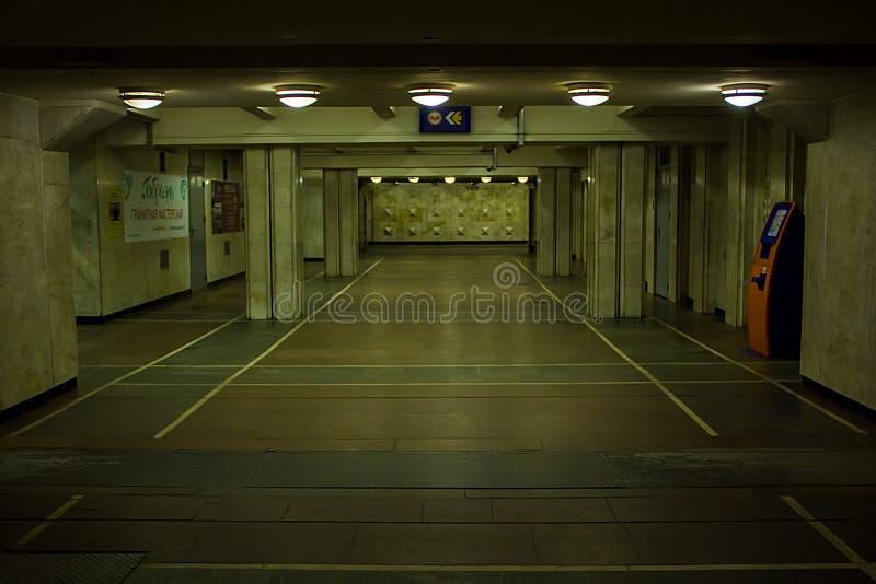 Подземный проход метро стоковая фотография