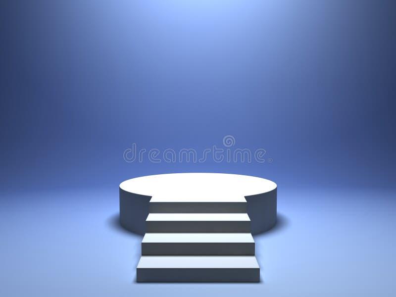 Подиум для победителя иллюстрация вектора